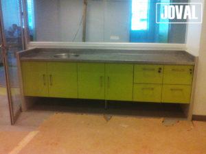 Mueble laboratorio acero inoxidable